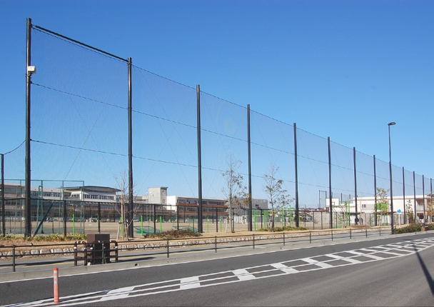 福岡市 東区 中学校 防球ネット