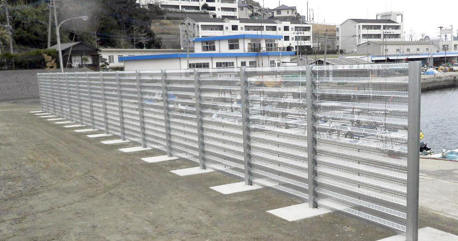 玄界島 防風柵設置工事