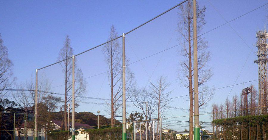 福岡県 名島運動公園 防球ネット